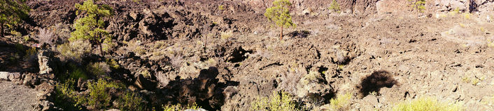 Panorama, Lava flow Royalty Free Stock Photos
