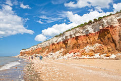 Panorama of the layered cliffs at Hunstanton Royalty Free Stock Photography