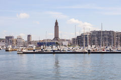 Panorama of Le Havre. With St Joseph& x27;s Church. Le Havre, Normandy, France Royalty Free Stock Photo