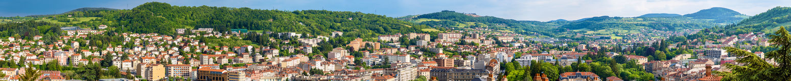 Panorama of Le Puy-en-Velay - France Royalty Free Stock Photos