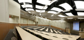 Panorama of Lecture Hall Stock Photography