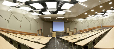 Panorama of Lecture Hall Stock Images