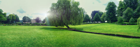 Panorama of Leeds Castle park Stock Photography