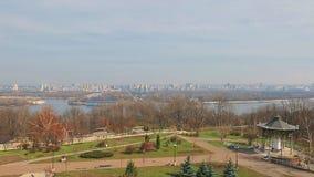 Panorama of Left Bank of Dnieper, Kiev Royalty Free Stock Photos