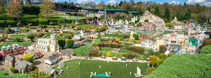 Panorama of LEGO miniland in Legoland Windsor theme park royalty free stock photo