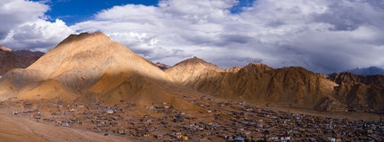 Panorama of Leh Ladakh Stock Photography