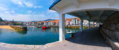 Panorama of Lekeitio village Stock Photos