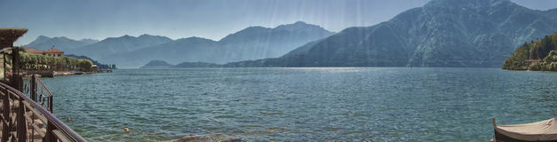Panorama from Lenno, Lake Como Royalty Free Stock Photos