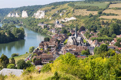 Panorama of Les Andelys, Normandie, France Royalty Free Stock Image