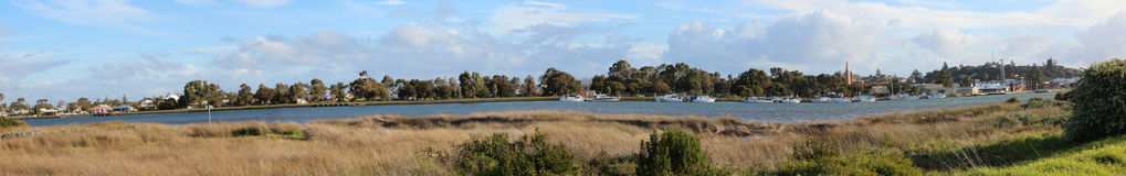 Panorama of Leschenault Estuary Royalty Free Stock Images