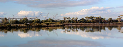 Panorama of the Leschenault Estuary in Bunbury Royalty Free Stock Photos