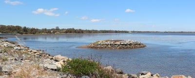 Panorama of Leschenault Estuary Bunbury West Aust Stock Photo
