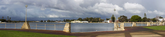 Panorama of   Leschenault  Estuary in mid winter. Stock Photography