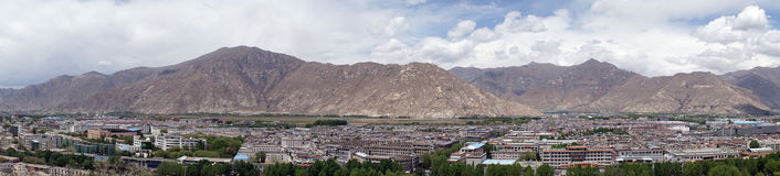 Panorama of Lhasa Royalty Free Stock Photos