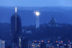 Panorama of Liege Stock Photography
