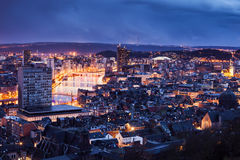 Panorama of Liege Royalty Free Stock Images