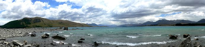 panorama- liggande för lake ii Arkivbild