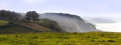 panorama- liggandeberg Royaltyfri Bild