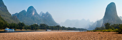 Panorama of Lijiang river Stock Photo