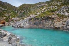 Panorama of Limnionas beach bay at Zakynthos island Royalty Free Stock Photography