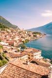 Panorama of Limone sul Garda, lake Garda, Italy. Royalty Free Stock Image