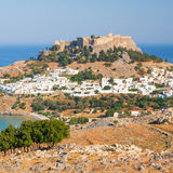 Panorama of Lindos Royalty Free Stock Images
