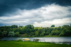 Panorama of Linlithgow Loch in Linlithgow, Scotland, UK. Panorama of Linlithgow Loch in Linlithgow, Scotland, United Kingdom royalty free stock image
