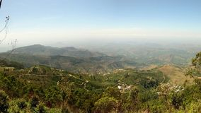 Panorama from Lipton Seat, hill country, travel destination in Sri Lanka.