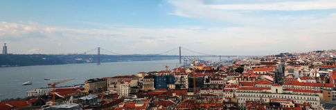 Panorama Lisboa Foto de Stock