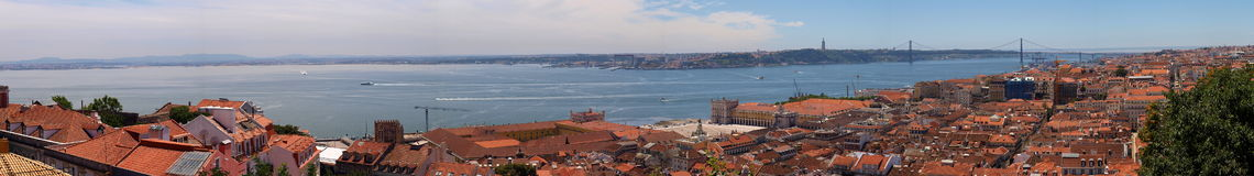 Panorama of Lisbon Royalty Free Stock Photo