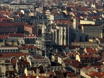 Panorama of Lisbon Stock Photography