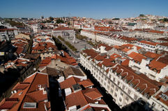 Panorama- Lisbon Royaltyfria Bilder