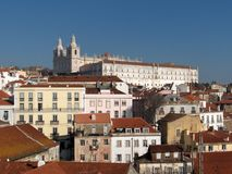 Panorama of Lisbon - Alfama Royalty Free Stock Photo