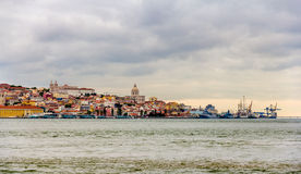 Panorama of Lisbon from Almada Stock Photos