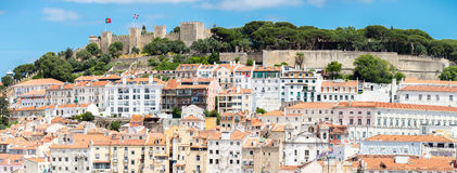 Panorama Lisbon Caxtle Stock Images
