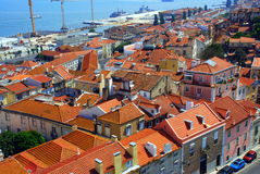 Panorama of Lisbon city in Portugal Royalty Free Stock Image
