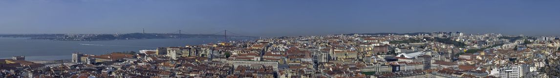 Panorama on Lisbon city in Portugal Royalty Free Stock Photography