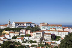 Panorama of Lisbon historical city Stock Images