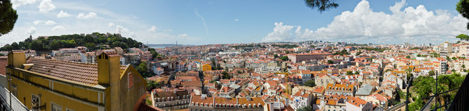 Panorama of Lisbon Stock Images