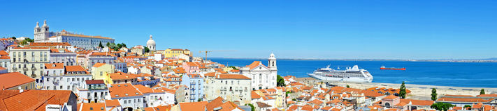 Panorama from Lisbon Portugal Royalty Free Stock Images