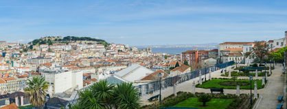 Panorama of Lisbon Royalty Free Stock Photography