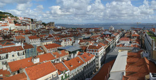 Panorama of Lisbon, Portugal, Europe Stock Photography