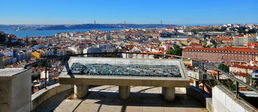 Panorama of Lisbon, Portugal. Magic view from miradouro Stock Photography