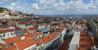 Panorama Lisbon, Portugalia, Europa Fotografia Stock