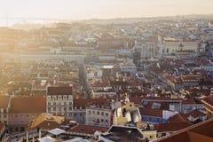 Panorama of Lisbon at sunset Stock Photography