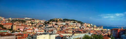 Panorama Lisbona Fotografia Stock Libera da Diritti