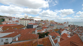 Panorama Lissabon Stockbild