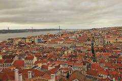 Panorama Lissabon royaltyfria bilder