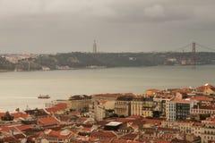 Panorama Lissabon fotografering för bildbyråer