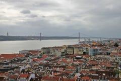 Panorama Lissabon royaltyfria foton